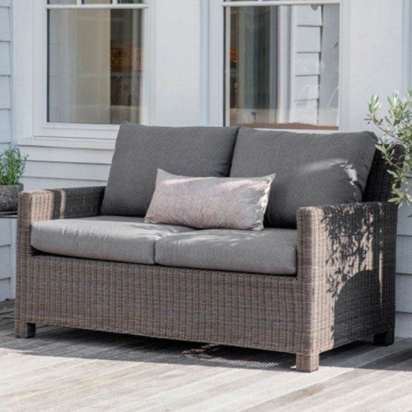 Chilgrove Sofa made from PE Rattan for Garden with 2 Seater side ...