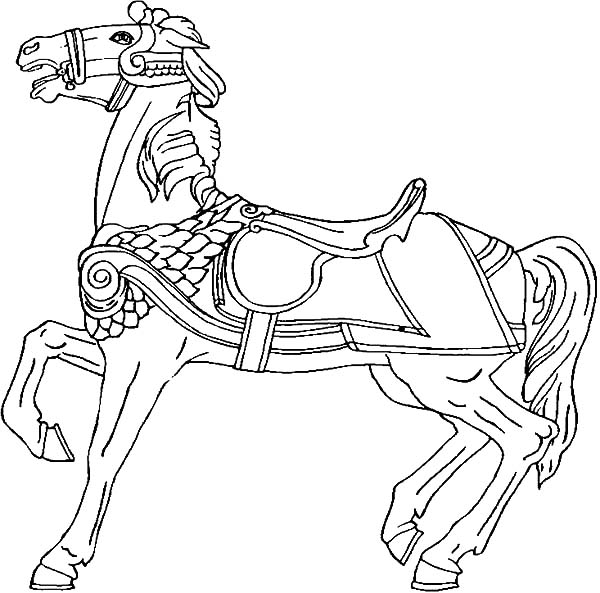 Carousel Horse Rearing Coloring Pages : Best Place to ...