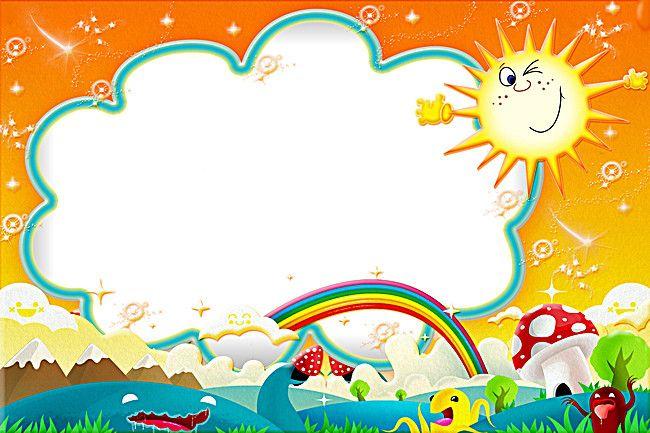 Los niños de dibujos animados fondo marco creativo, Cartoon Marcos ...