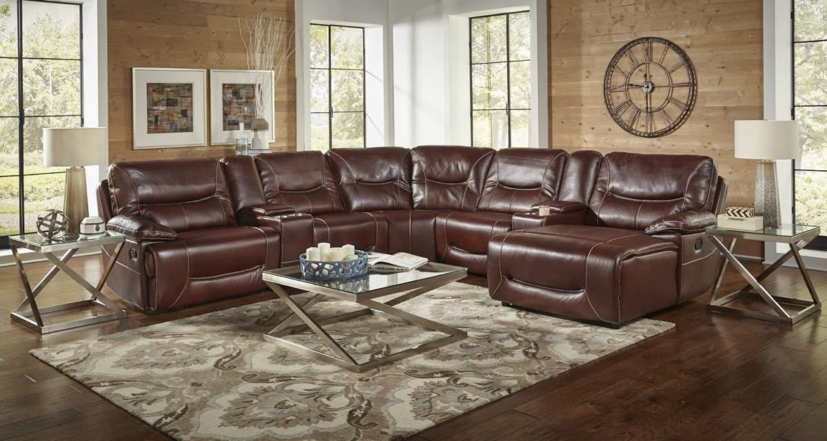 Corinthian El Paso Italian Leather Sectional My Furniture Place