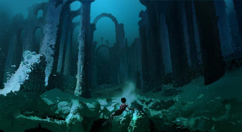 File Harry Potter Under Hogwarts Lake After Using Gillyweed For The Triwizard Tournament 2nd Task Concept Artwork 02 Jpg
