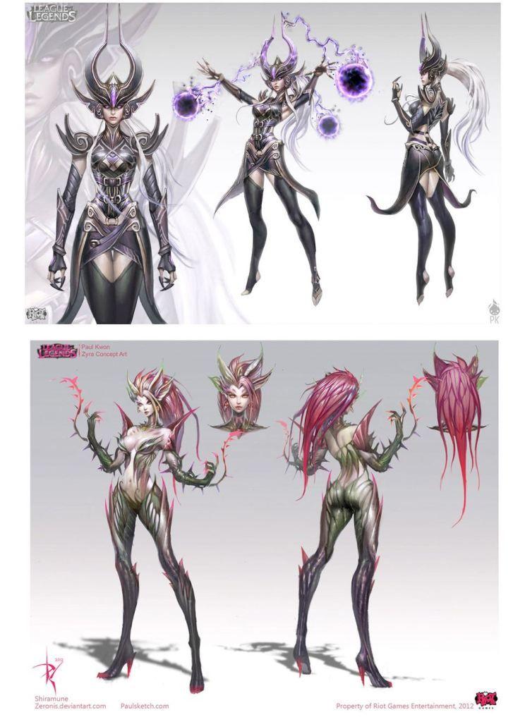 League Of Legends Character Design Contest : Characters from the league of legends riot concept art