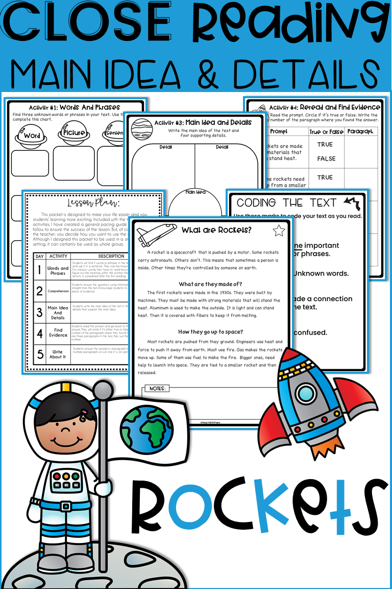 - 2nd Grade MAIN IDEA Reading Comprehension Passages And Question