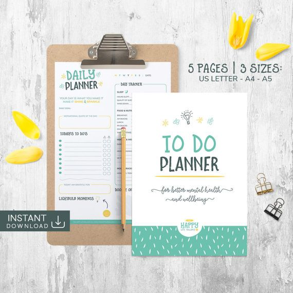 To Do List, Goal Planner, Mental Health Planner, 2017 Weekly - weekly agenda