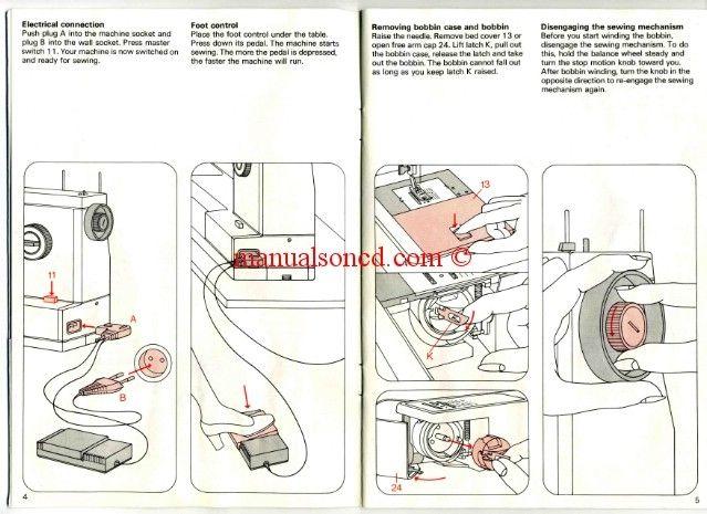 Pfaff 1196 1197 1199 1209 Sewing Machine Instruction Manual Sewing Machine Instructions Sewing Machine Service Sewing Machine Instruction Manuals