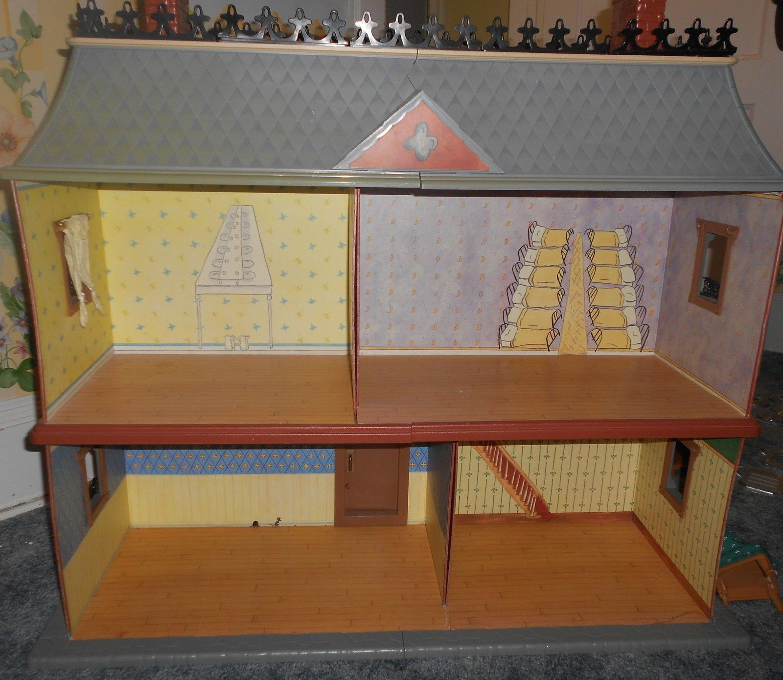 Retired Eden Madeline Dollhouse With Original Instructions Furniture Dolls  | EBay