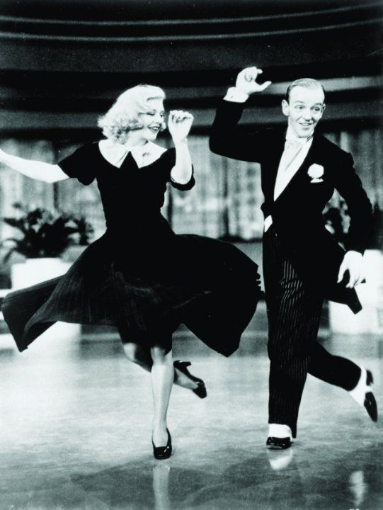 Still of Fred Astaire and Ginger Rogers in Swing Time (1936)