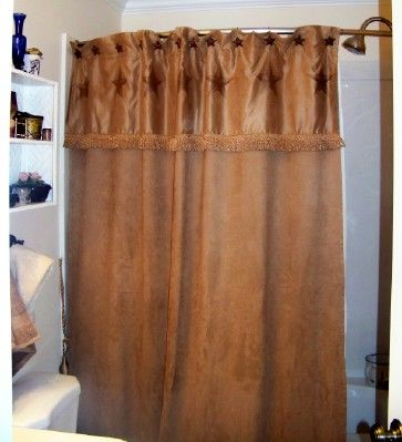 Rustic Star Christmas Ornament Shower Curtain A Rustic Texas
