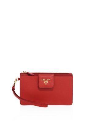 509211acebf8 PRADA Saffiano Leather Iphone Wrislet. #prada #bags #shoulder bags #leather  #pouch #accessories #