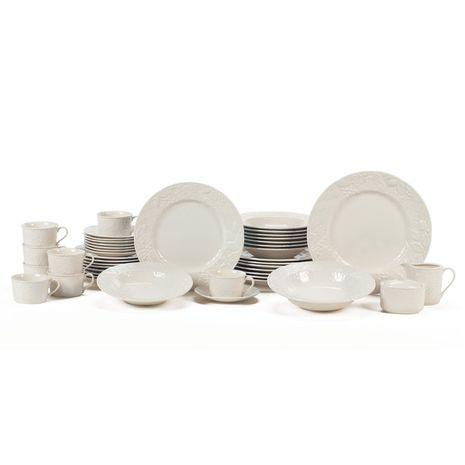45 Piece Dinnerware Set with Serving Accessories. In case I need replacements :)