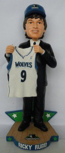 "Ricky Rubio Minnesota Timberwolves 2009 NBA Draft Day Bobble Head Exclusive by Forever Collectibles. $24.99. 2009 NBA Draft Day Commemorative Bobble Head Exclusive to CLARKtoys.com. Individually numbered to 300.. 10"" Tall NBA Bobble Head.. Minnesota Timberwolves."