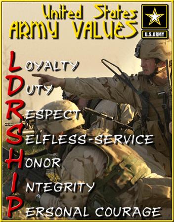 army values ldrship army values
