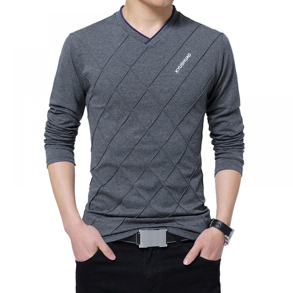 Mens Casual Long Sleeve Top