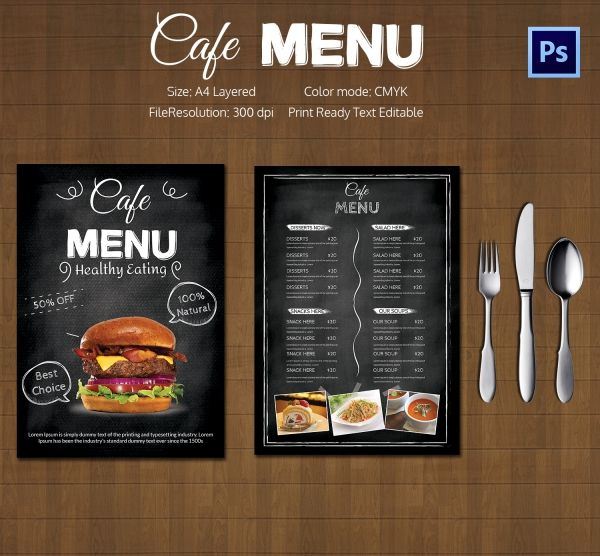 Cafe_Menu_Template hamburguesas Pinterest Cafe menu, Menu - coffee shop brochure template