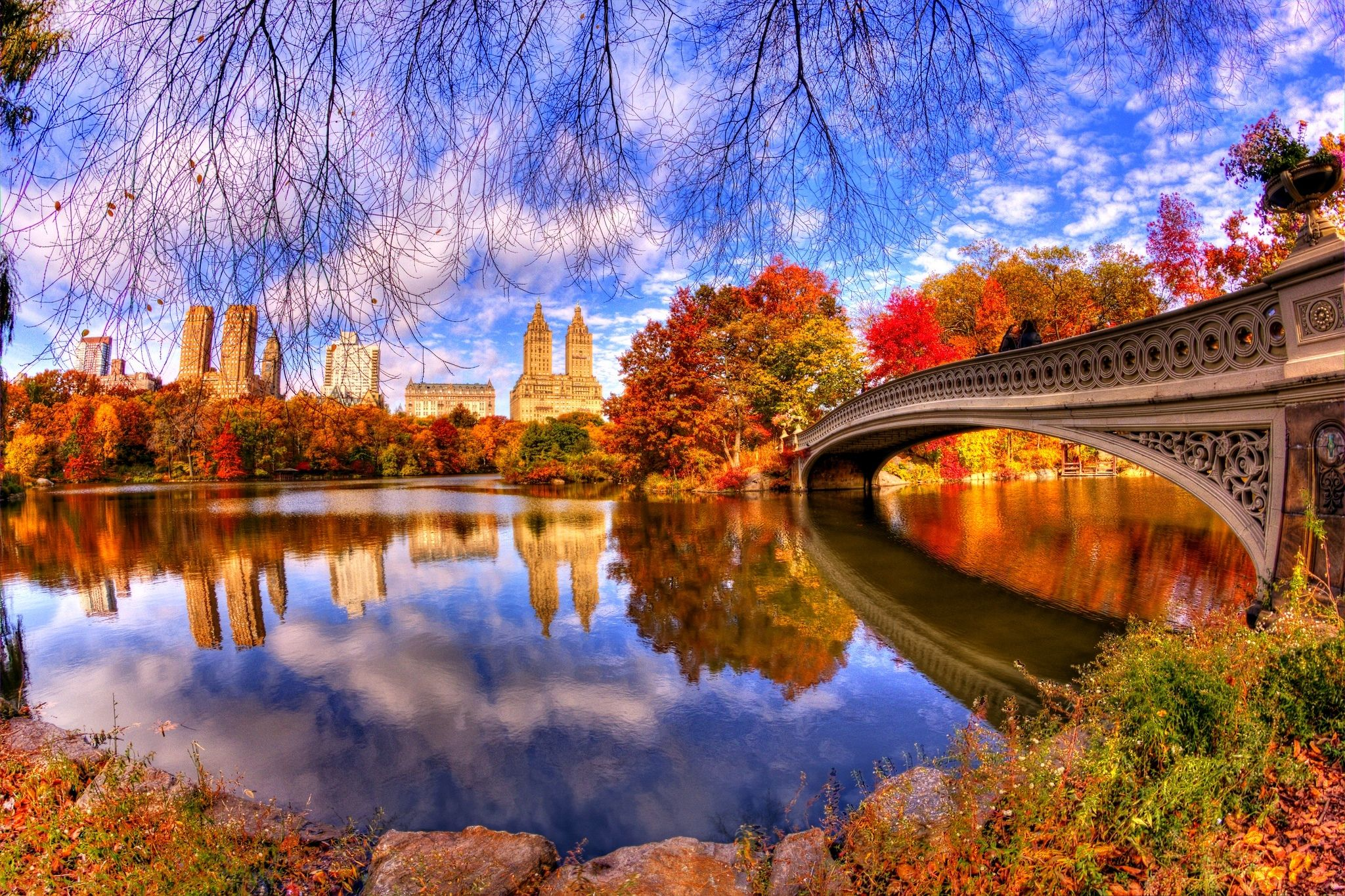 Central Park in Autumn New York Central park, New york