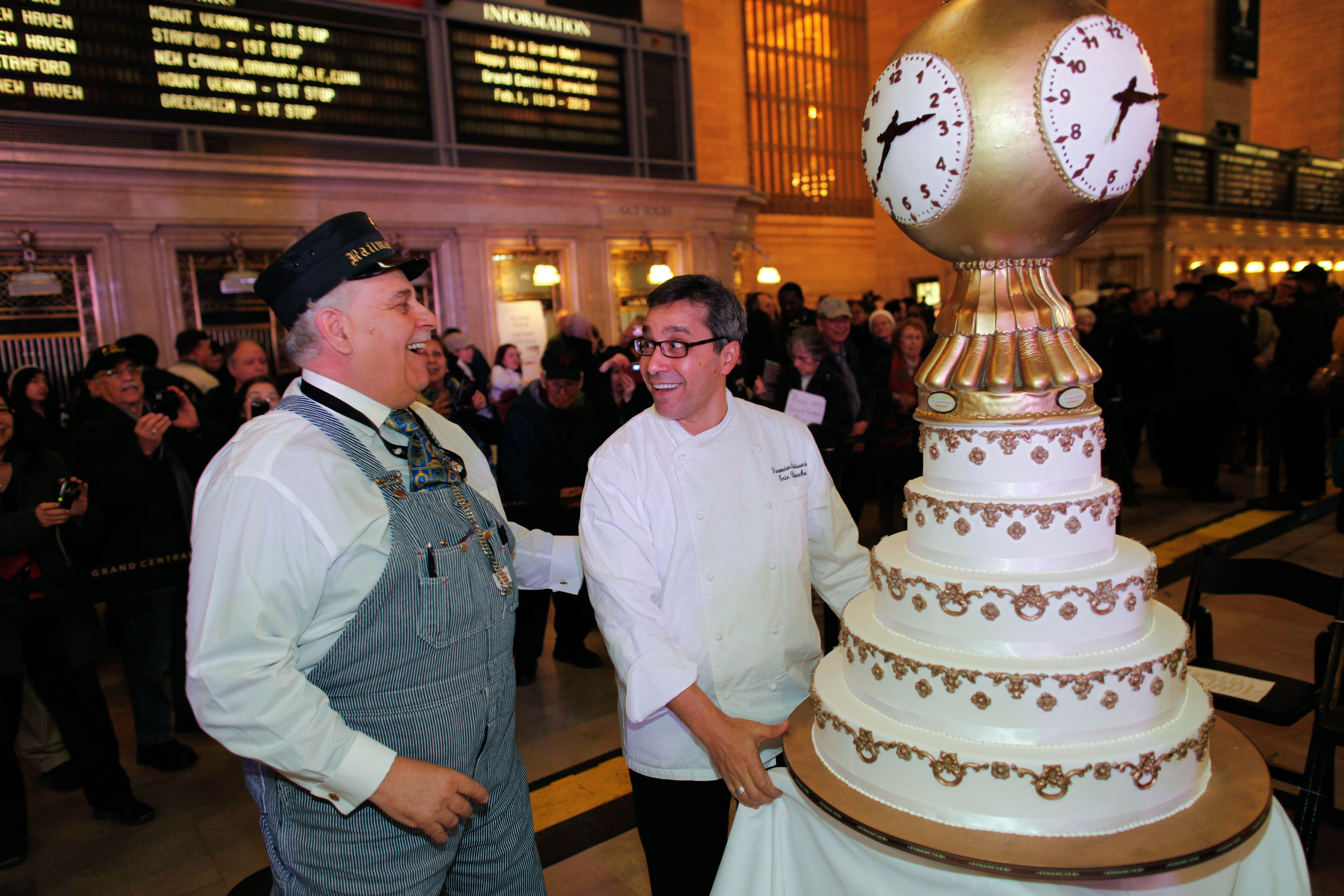 Chef Eric wheeling out his Centennial masterpiece! #GCT100