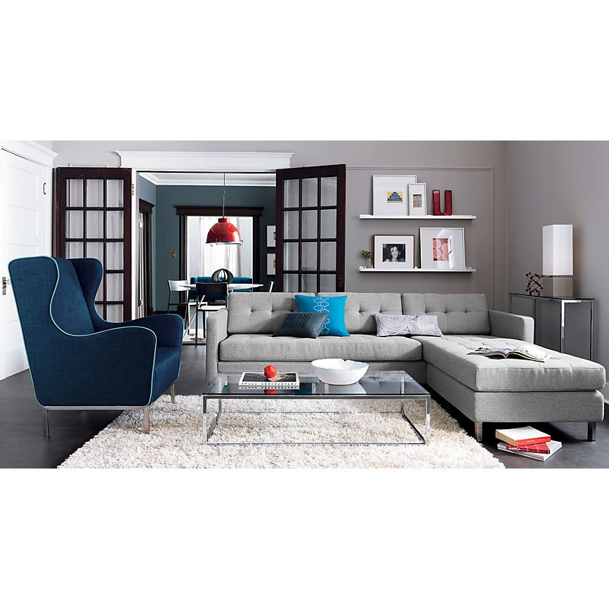 Best Dual Pebble Tufted Sectional In All New Cb2 Home 400 x 300