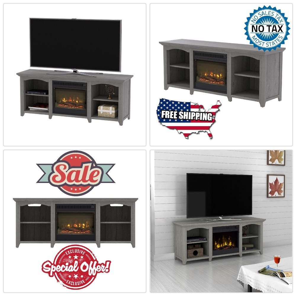56 Inch Tv Stand With Fireplace Media Console Electric Entertainment