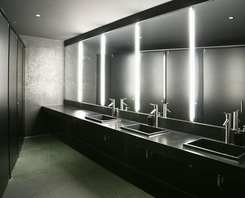 Bathroom Light Fixtures Used bartco project: barclays center center bunker suite vanity fixture