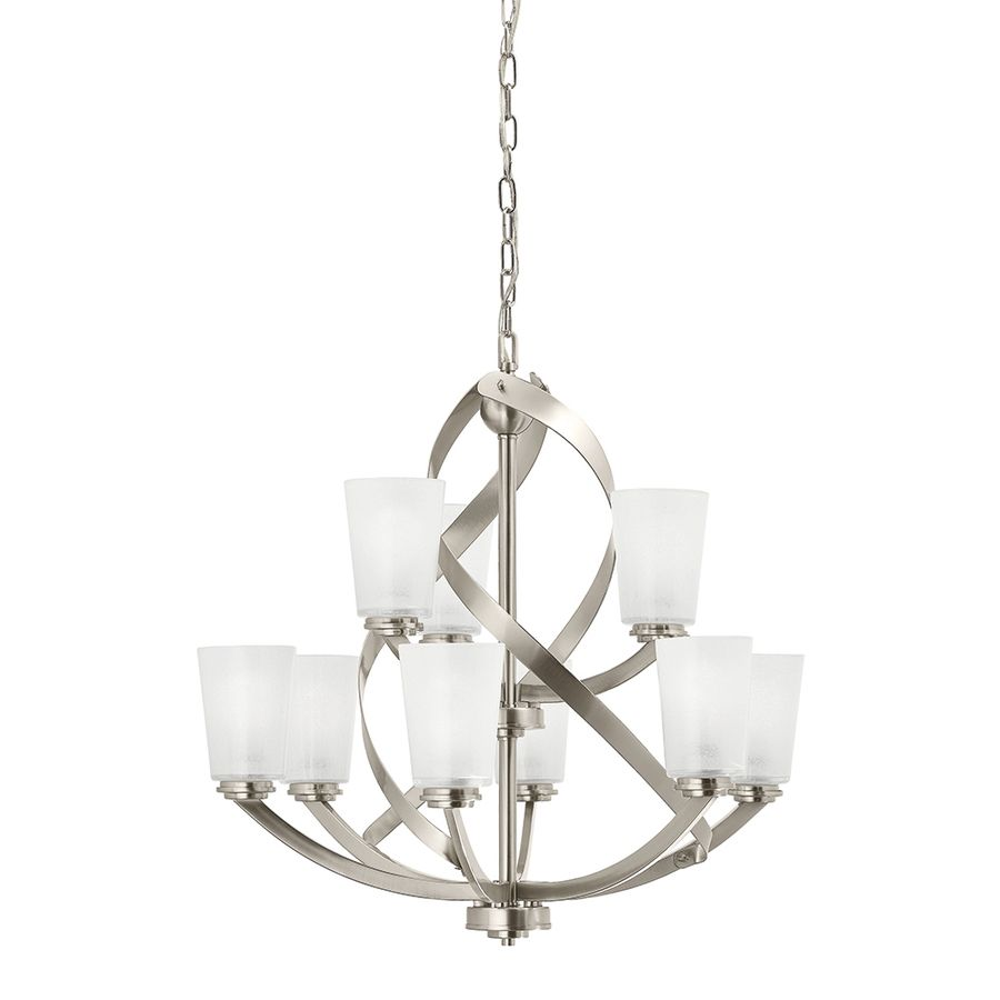 Foyer 279 Shop Kichler Lighting Layla 9 Light Brushed Nickel Chandelier At Lowes