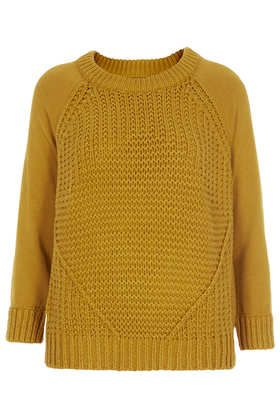 Knitted Mixed Stitch Jumper - Knitwear  - Clothing