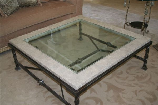 Furniture Wrought Iron Coffee Table With Marble Top Wrought Iron