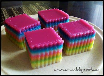 Kuih Lapis Pelangi ~ Recipes yumzz