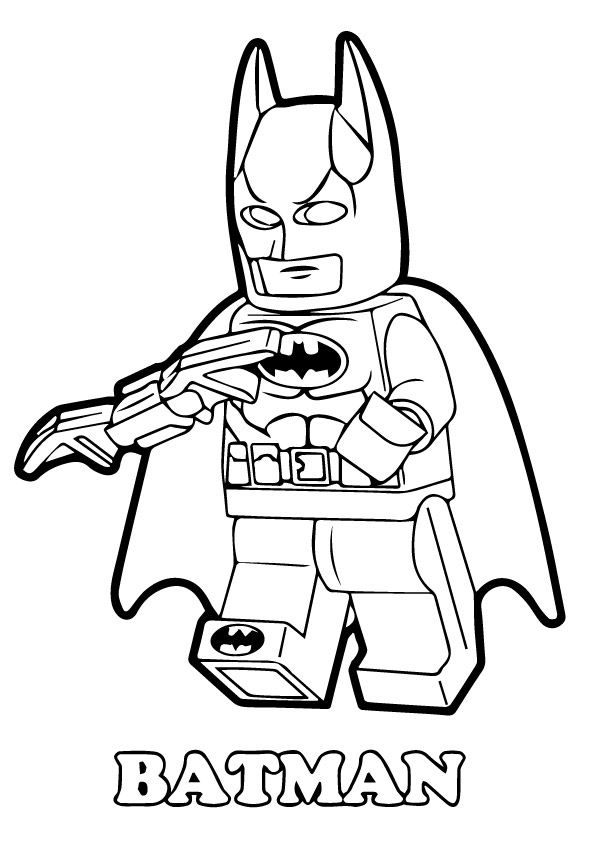 Batman Lego Coloring