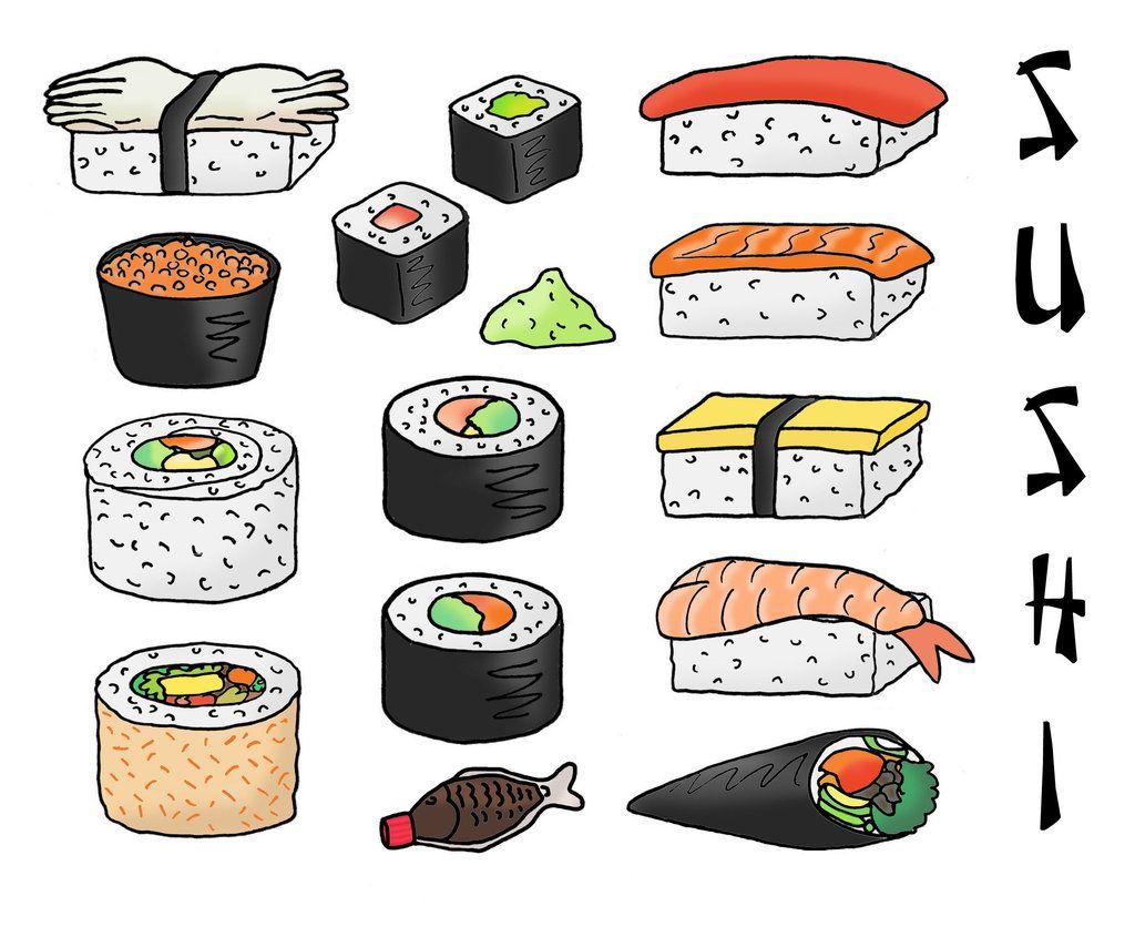 sushi drawing - Pesquisa Google | Sushi <3 | Pinterest | Comida ...