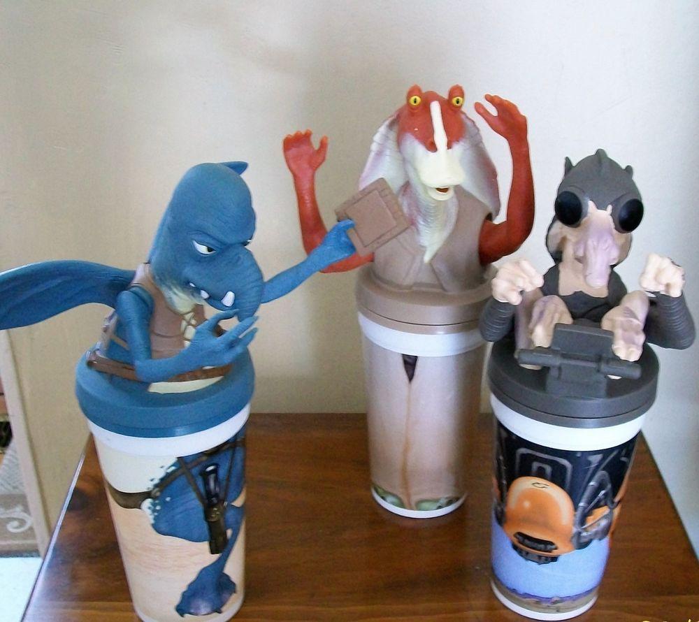 Star Wars Collector Cups Set Of Three 1999 Kfc Taco Bell Pizza Hut
