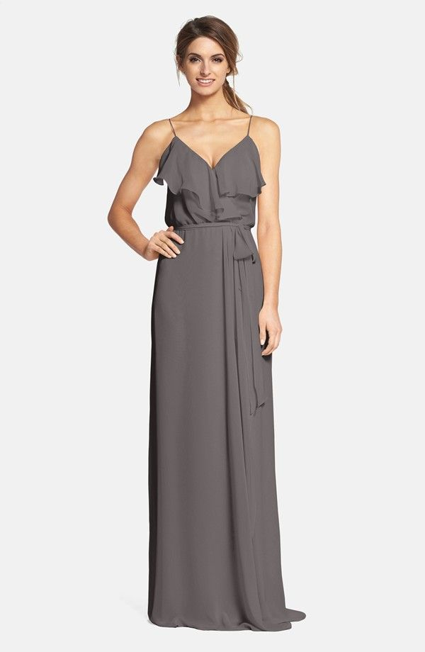 nouvelle AMSALE Ruffle Front Chiffon Gown | Nordstrom | the show ...