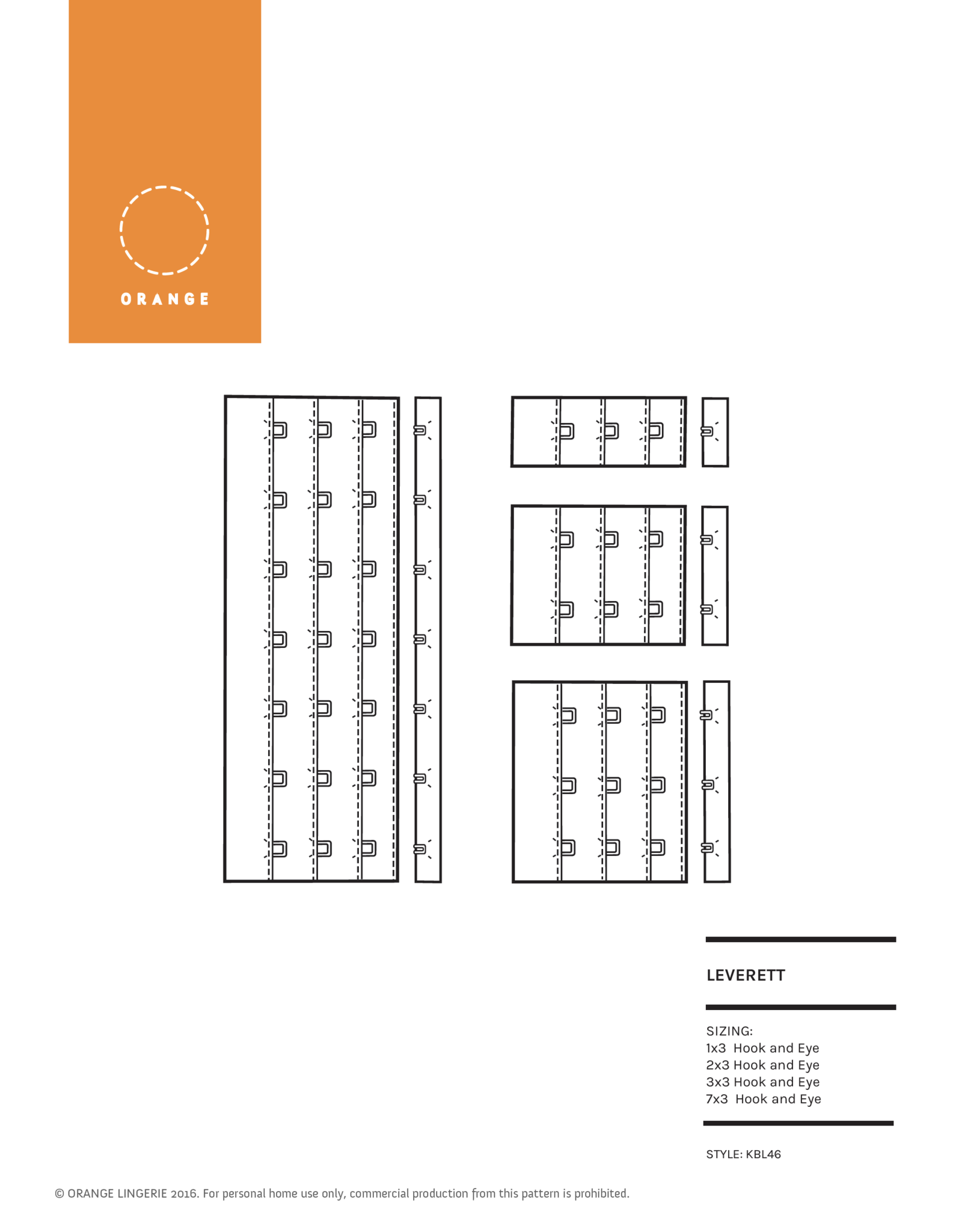 Leverett Hook and Eye Closure PDF Sewing Pattern by Orange Lingerie ...