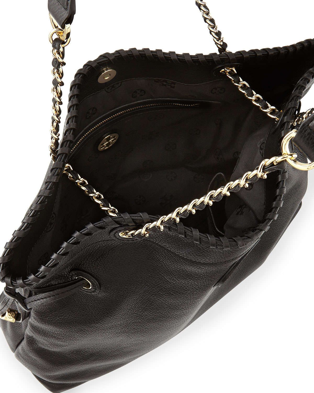 Marion Slouchy Drawstring Tote Bag, Black