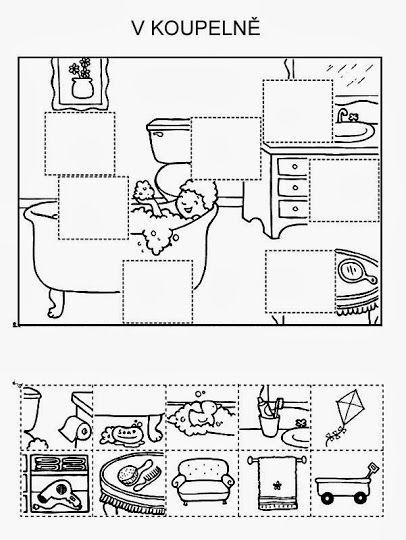 arbeitsblätter, puzzle, ausschneiden, kleben, ausmalen