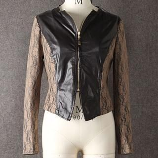 Buy 'JVL – Lace-Panel Faux-Leather Cropped Jacket' with Free International Shipping at YesStyle.com. Browse and shop for thousands of Asian fashion items from China and more!