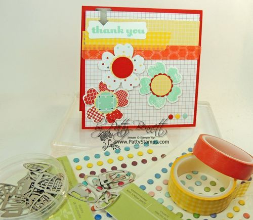 Fun 4x4 card with Washi Tape accents
