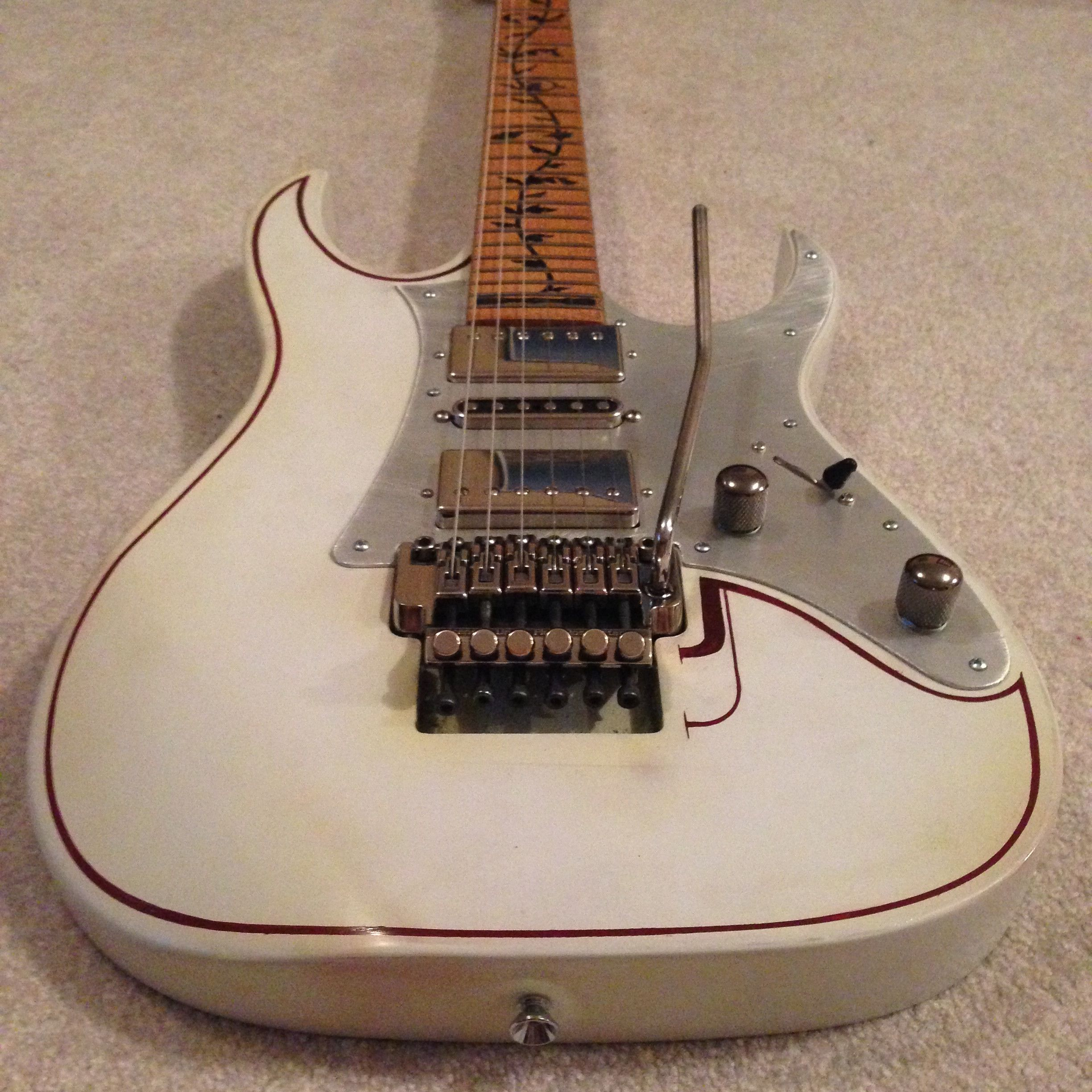 Great Ibanez 3 Way Switch Wiring Tall Two Humbuckers 5 Way Switch Square Gibson Pickup Wiring Colors Bulldog Security System Old 3 Humbucker Strat DarkStrat Super Switch Wiring Ibanez RG550 Upgrades And Mods | Ibanez, Guitars And Van Halen