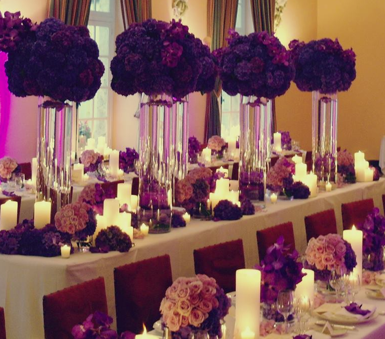 Black And Purple Wedding Decor If I Ever Had A Wedding