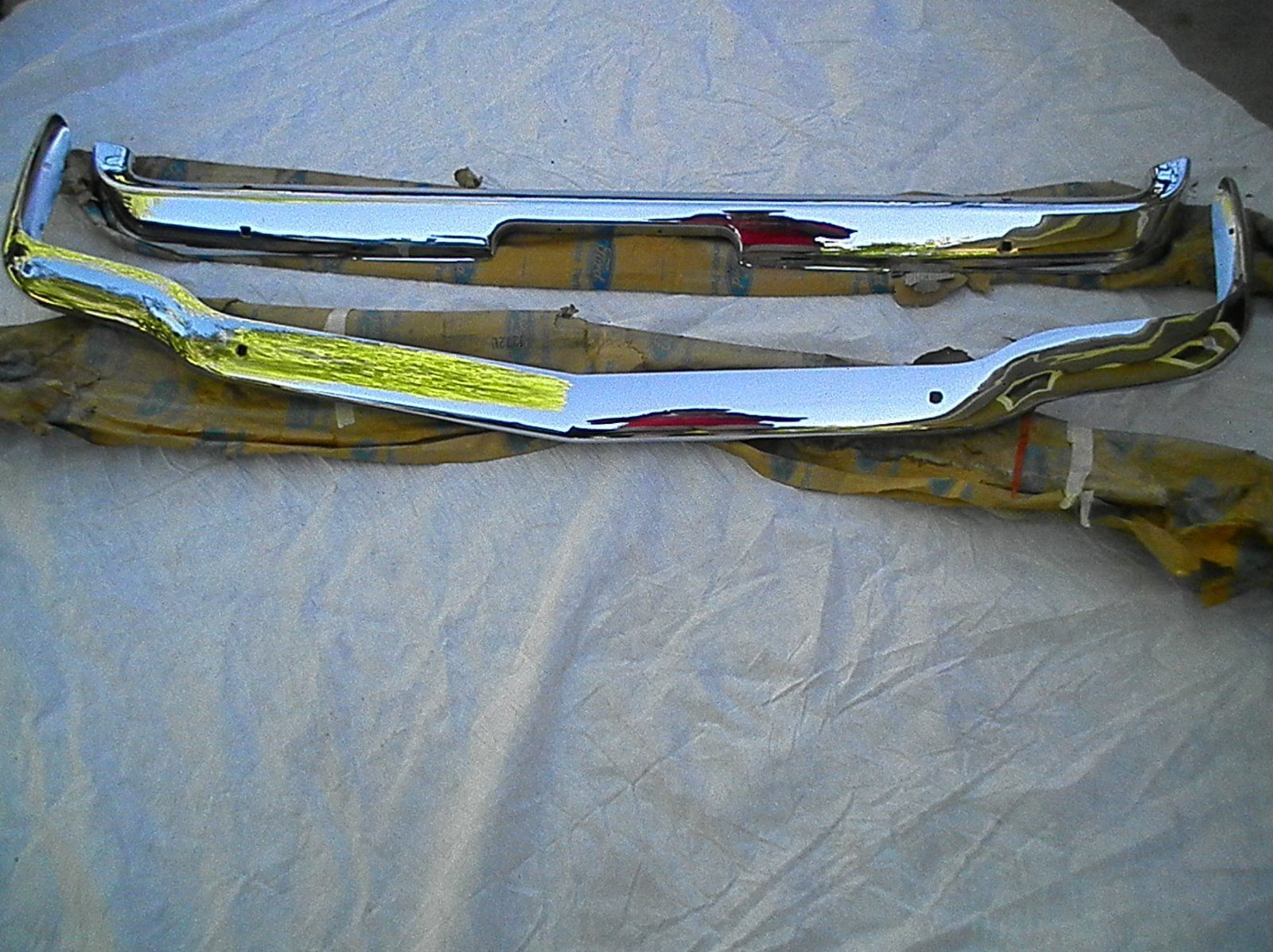 medium resolution of 1965 1966 mustang shelby front and rear bumpers ebay