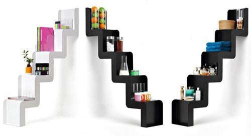 Staircase Shelf staircase-inspired shelving | shelving, staircases and minimalist