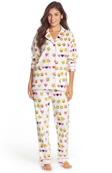 free shipping and returns on pj salvage print flannel pajamas at nordstromcom cozy up before bed in these girly illustrated pajamas that pair a - Nordstrom Christmas Pajamas