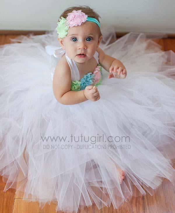 Pink aqua mint white tutu dress pastel flower girl gown baby pink aqua mint white tutu dress pastel flower girl gown mightylinksfo