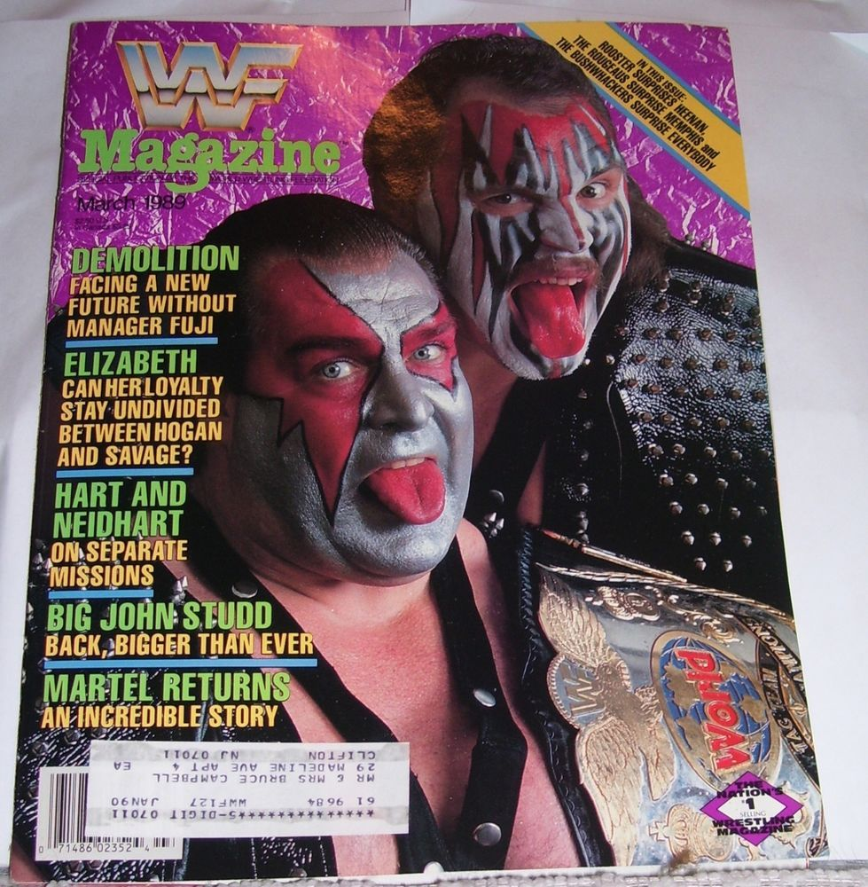 MARCH 1989 WWF WRESTLING MAGAZINE DEMOLITION AX BILL EADIE