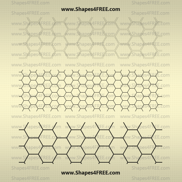 Transparent Hexagon Patterns by ~Shapes4FREE on deviantART | Repin