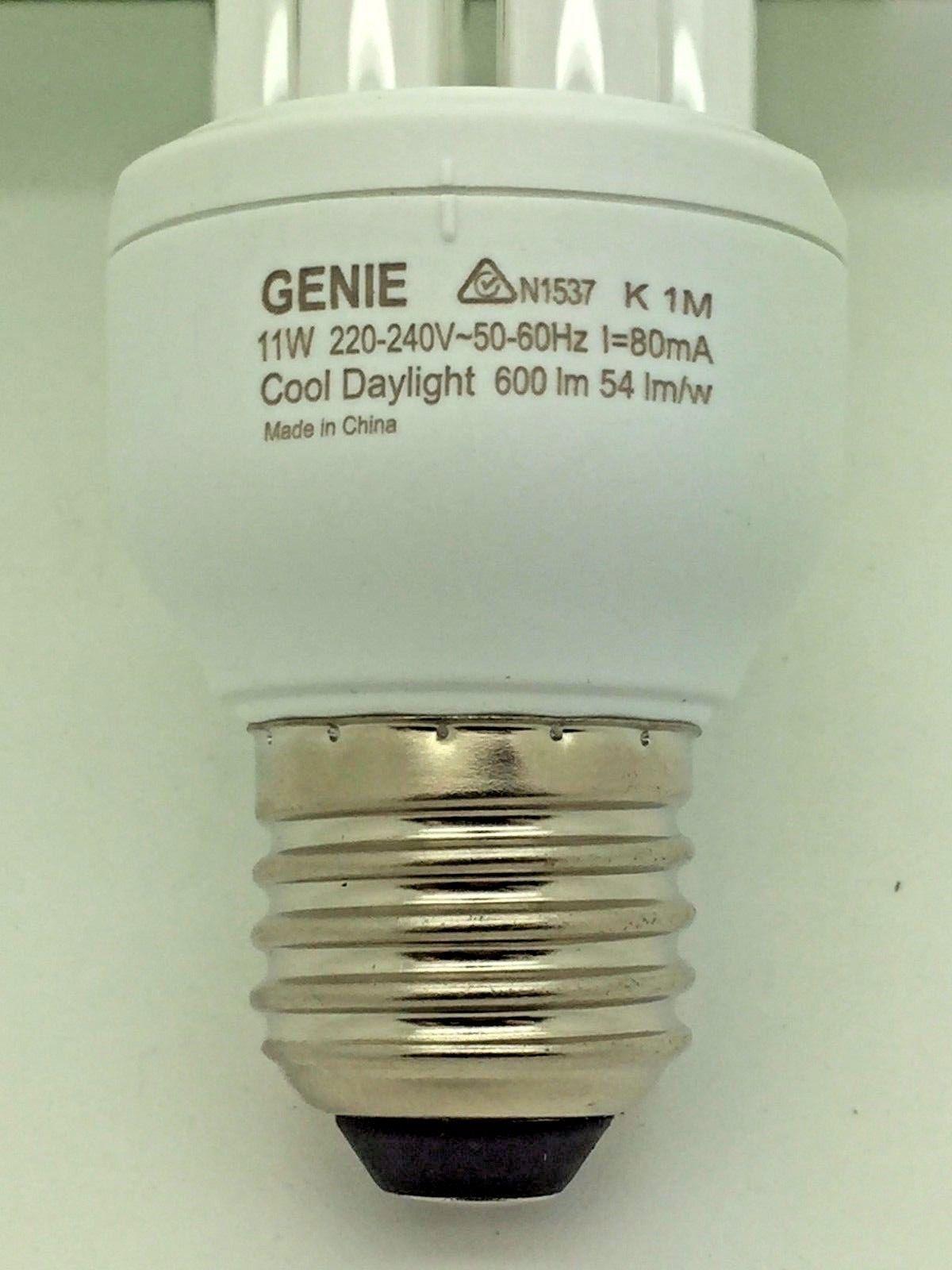Philips Genie Lamp 11w 220 240v Cool Daylight 80 Energy Saver E27 Flc X 6 8710163228952 Ebay Energy Saver Genie Lamp Philips