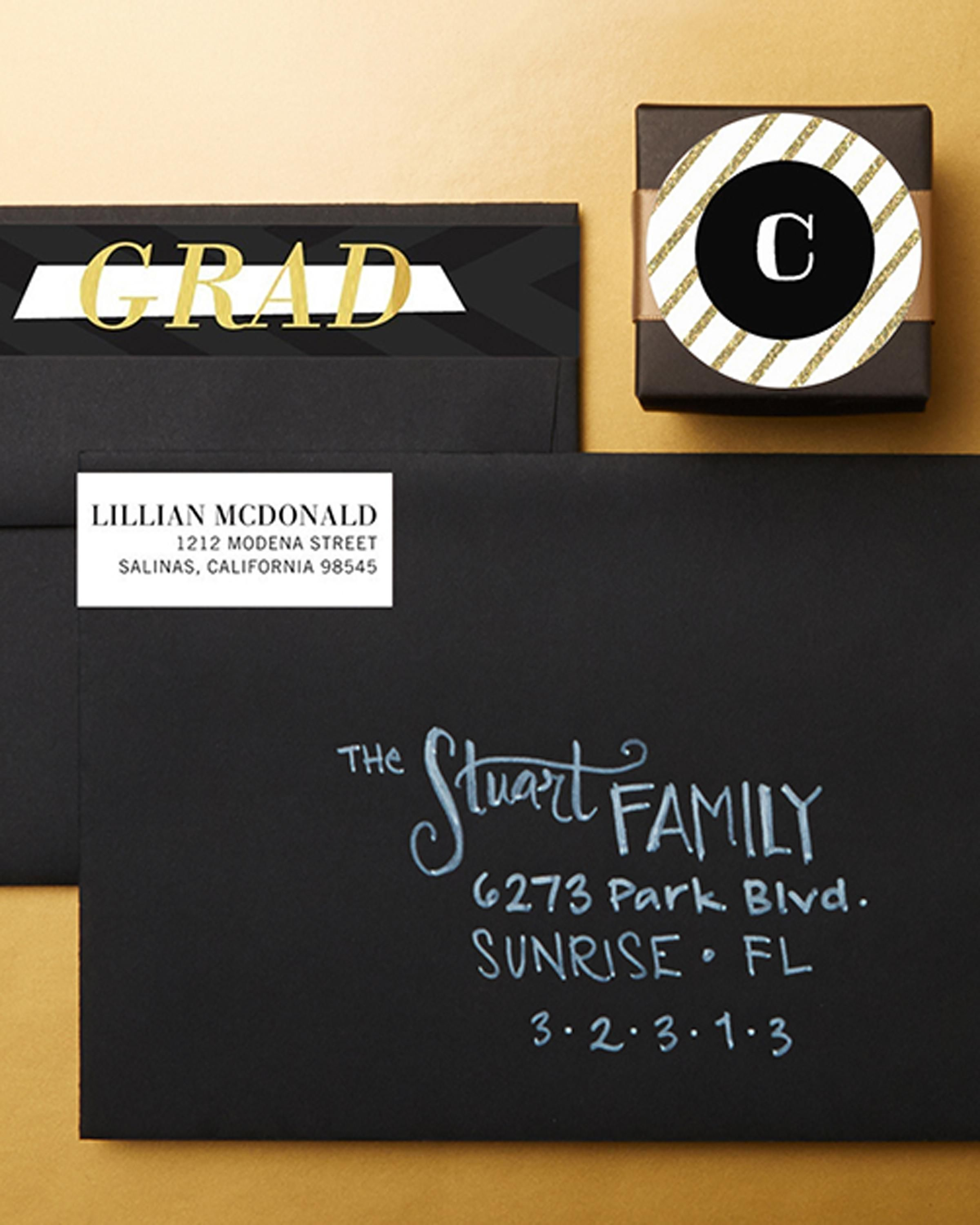 Add Elegance To Graduation Stationery With Personalized Stamps And