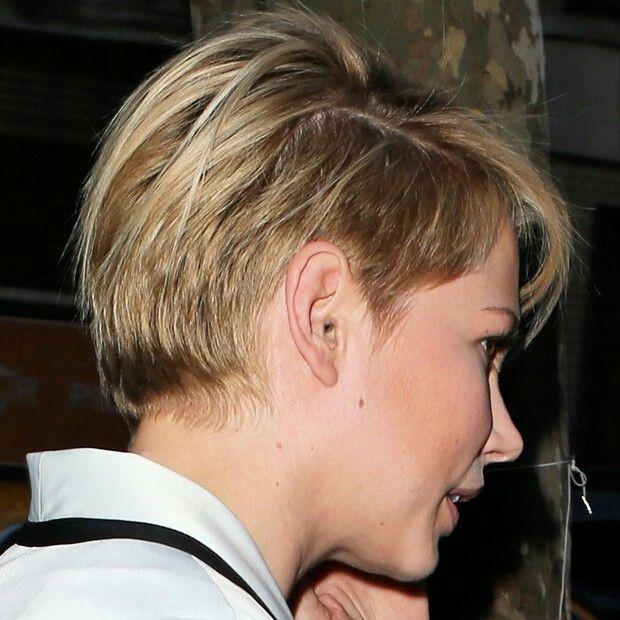 Back View Michelle Williams Hair Undercut Hair Pinterest