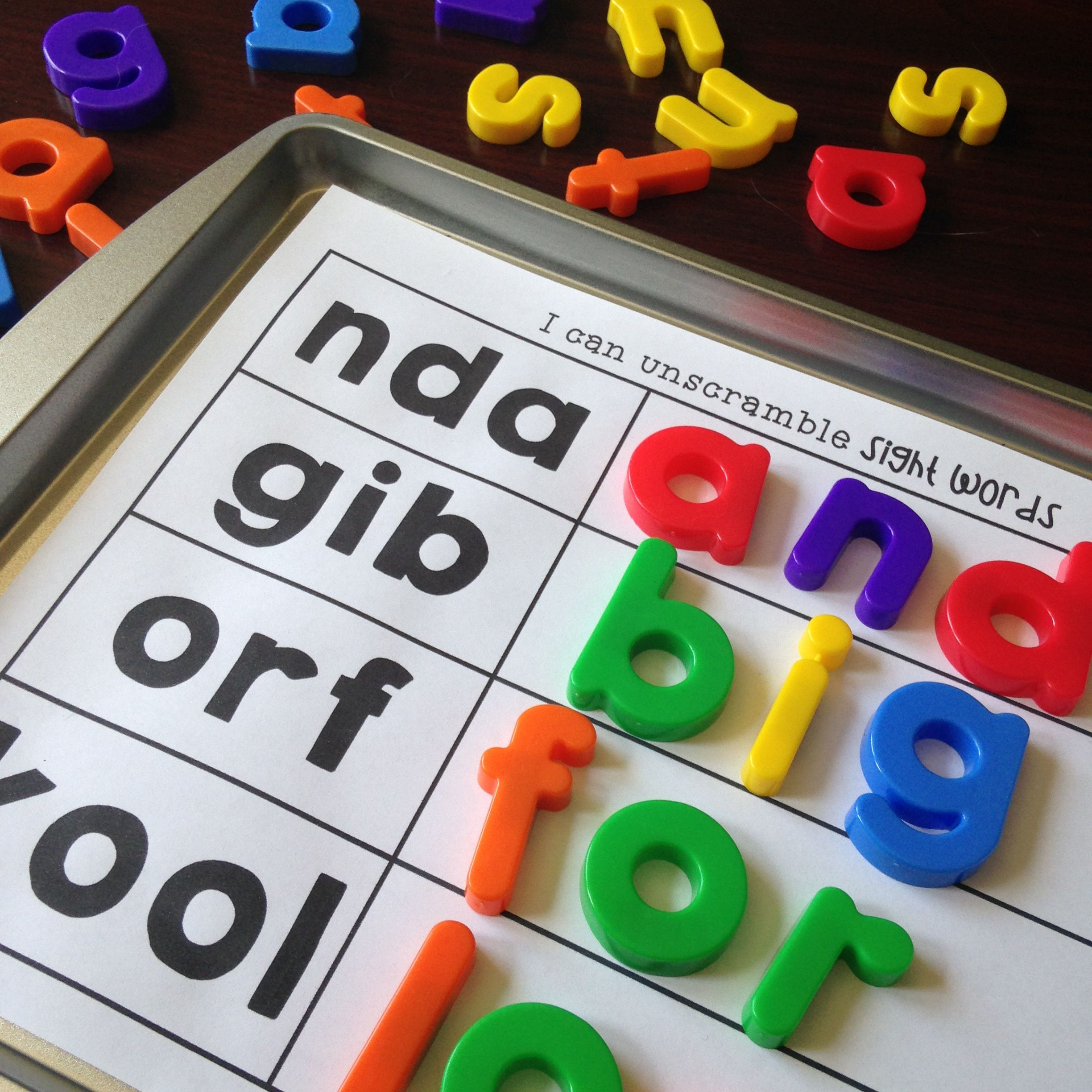 Mixed Up Sight Words Editable With Images