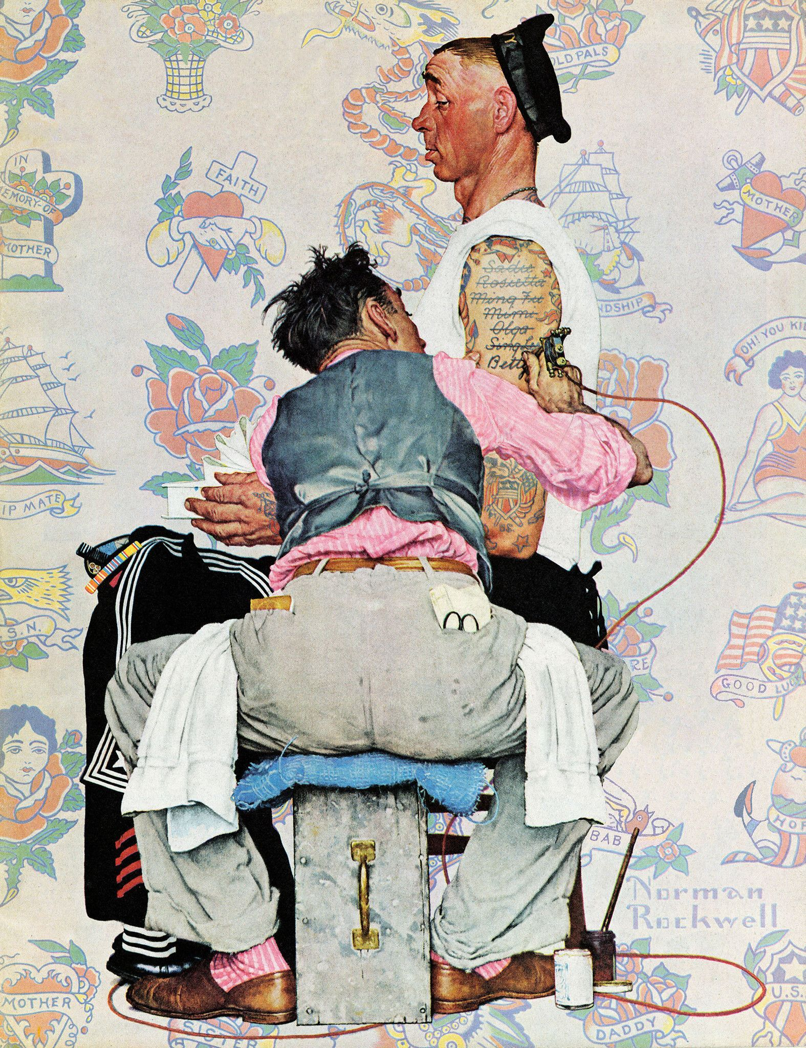 Tattoo Artist Norman Rockwell Art Norman Rockwell Paintings