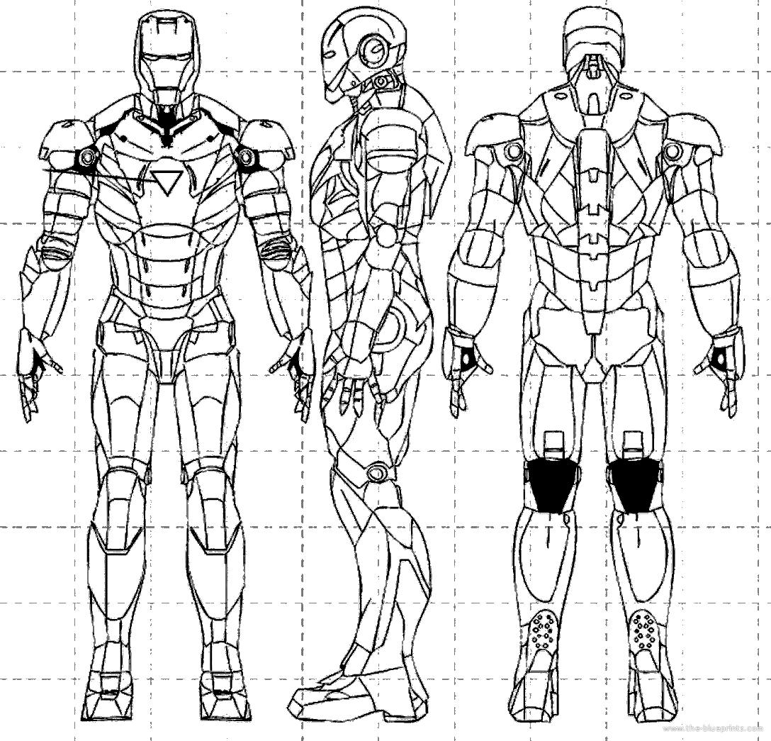 iron man suit blueprints